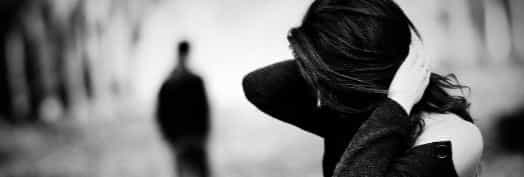 Разрыв отношений черно белая картинка