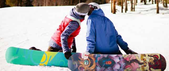 Влюбленные сноубордисты