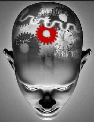 Человек с шестеренкой в голове