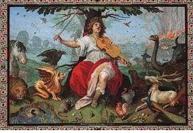 Орфей играет для животных