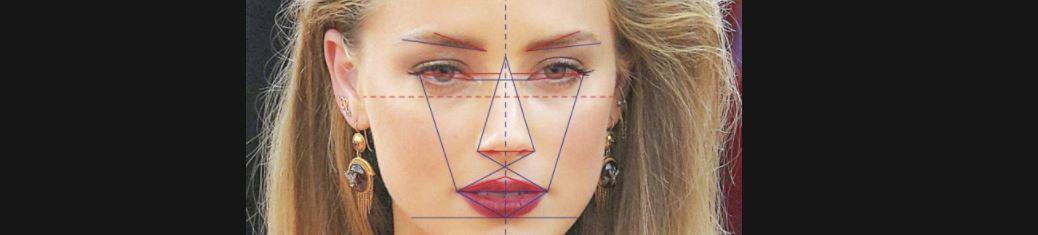 Женщина симметричность лица